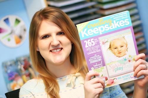 Creating Keepsakes April 2009 cover photo by Amanda Bottoms Photography