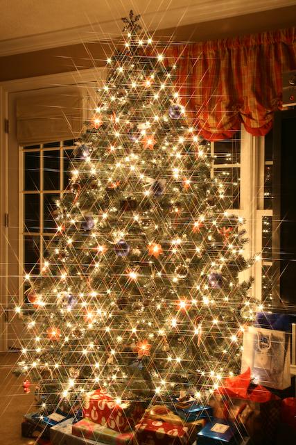Christmas tree star filter