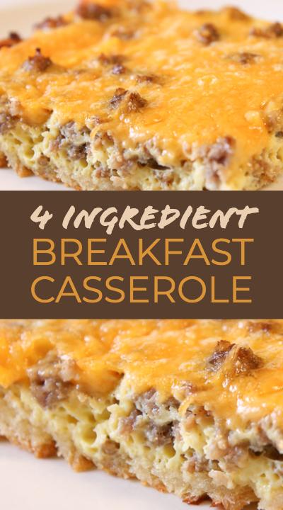 Cheesy Sausage Breakfast Casserole Recipe