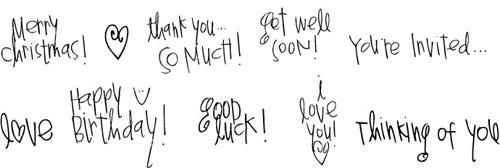 Pea Heather's Handwriting Doodle Phrases