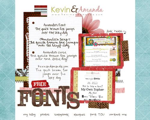 kevinandamanda's free fonts