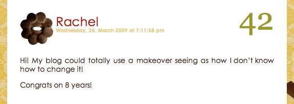 blog makeover giveaway