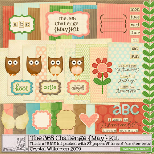 Crystal Wilkerson's May Project 365 Digital Scrapbooking Mega Kit