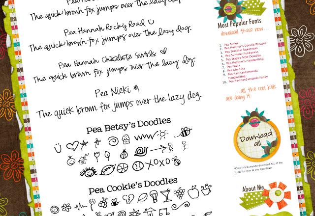 cute, best, free handwriting fonts