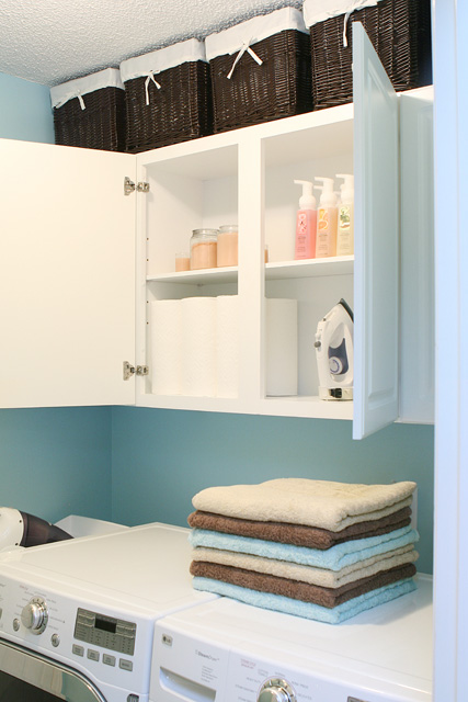 premade laundry cabinets