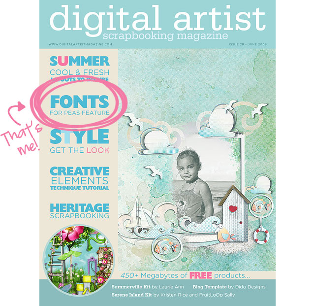 Digital Artist Magazine June 2009 Issue Fonts for Peas Site Feature
