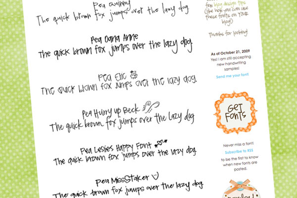 20 New Handwriting Fonts | Download for free!