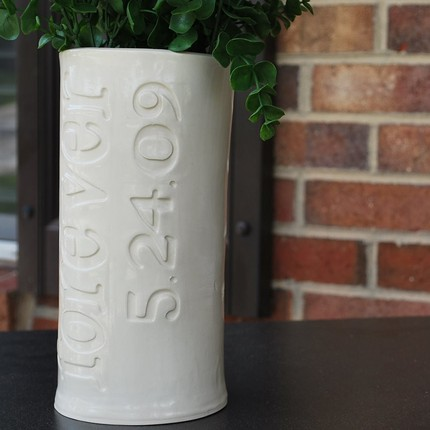 Custom Engraved Wedding Date Vase