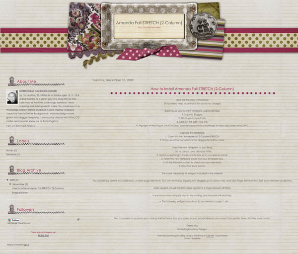 Free Scrapbook Blog Layouts, Backgrounds, and Templates
