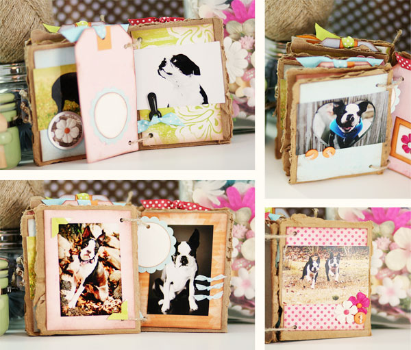 Cardboard Mini Album | Scrapbooking Projects to Use Up Your Scraps!