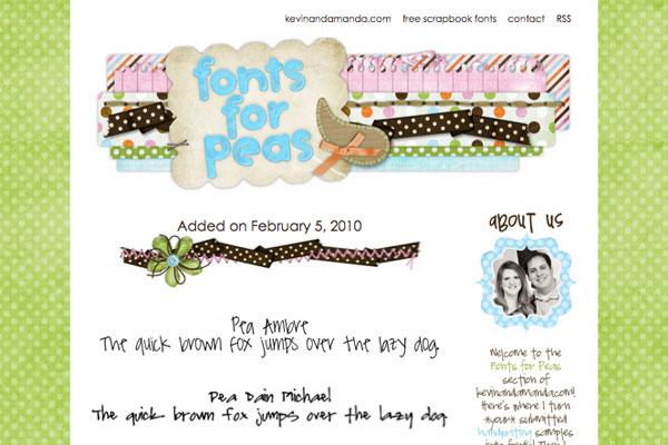 fonts for peas - new fonts - feb 2010