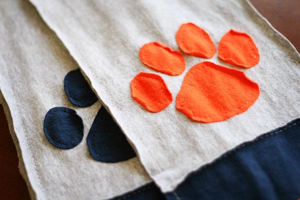 Auburn Tigers Pawprint Tshirt Scarf Tutorial & Pattern