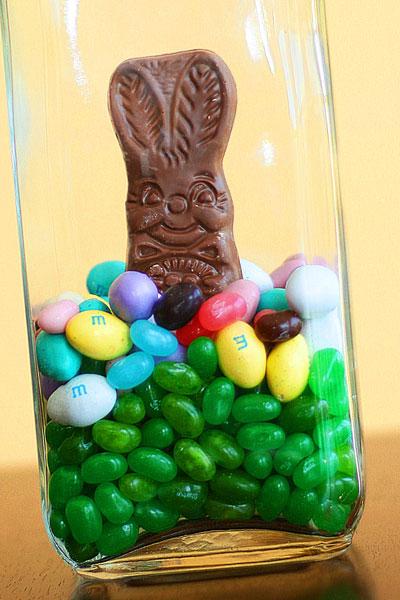 Easter Bunny Jar Centerpiece