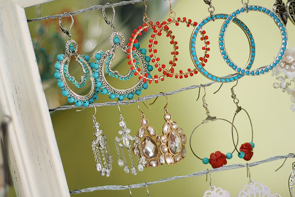 Shabby Chic Dangly Earring Display Holder
