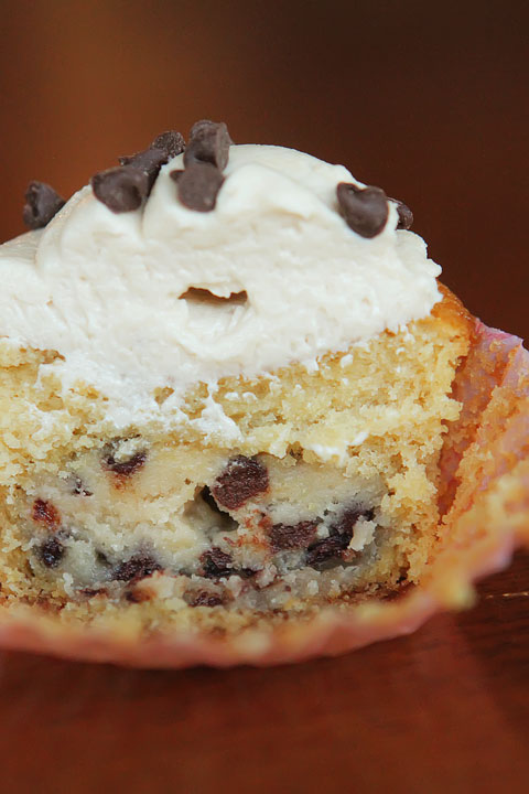 Top 20 Most Popular Recipes of 2013: Chocolate Chip Cookie Dough Cupcakes with Cookie Dough Frosting