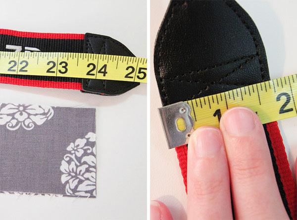 Make a Ruffled Camera Strap Slipcover Tutorial