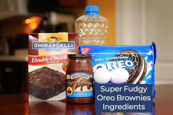 Fudgy Oreo Brownies Recipe