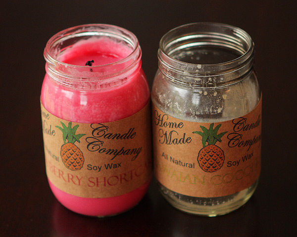 Strawberry Shortcake & Hawaiian Coconut Candles
