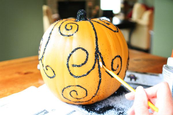Glittered Fall Pumpkins