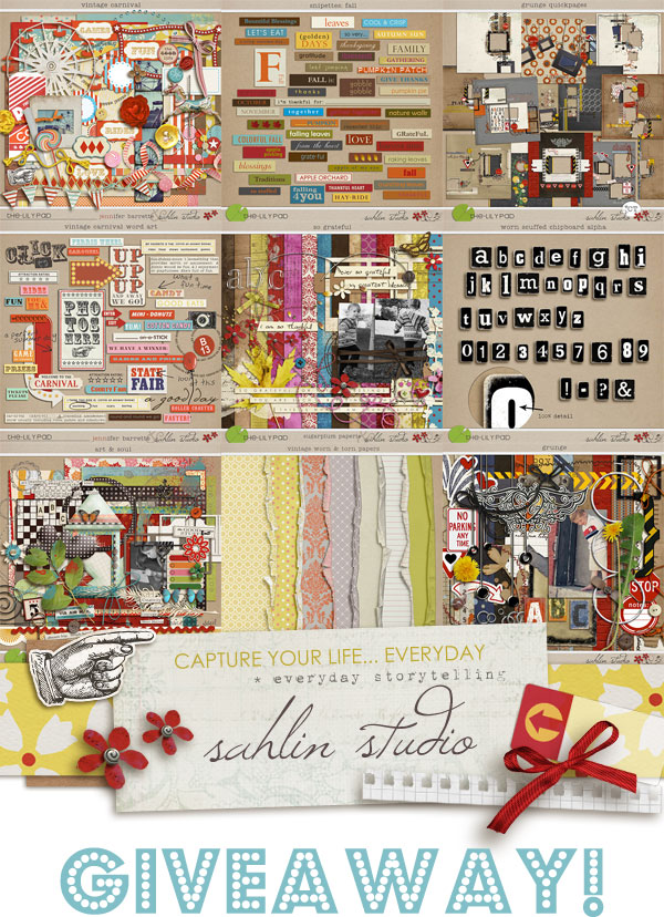Sahlin Studios ENTIRE STORE Giveaway | Digital Scrapbooking Kits