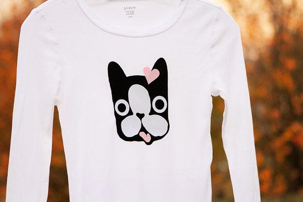 Silhouette Heat Transfer Tutorial - Boston Terrier Shirt