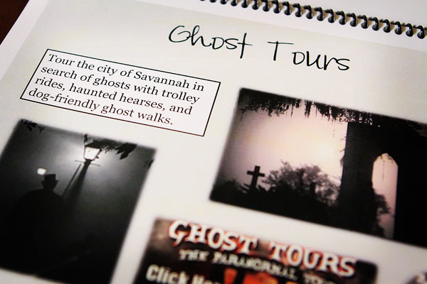Image of the Ghost Tours Page in Kevin's Savannah Itinerary