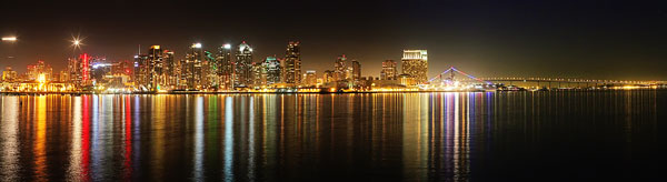 Panoramic View of San Diego Skyline