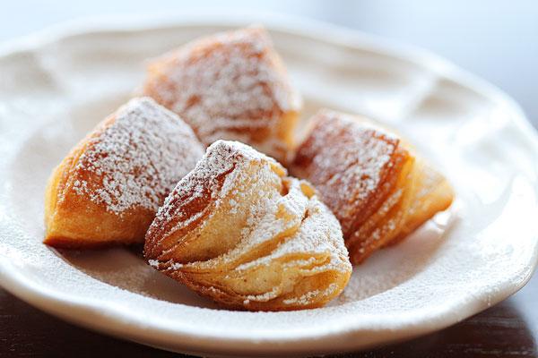 Biscuit Beignets with Praline Sauce