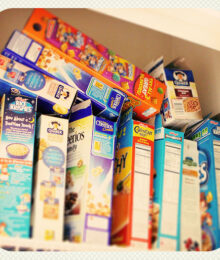 Image of Cereal Boxes in My Pantry
