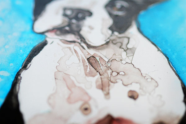 Watercolor Pet Portraits by Rachael Rossman