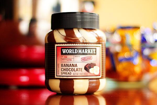 word market banana chocolate spead