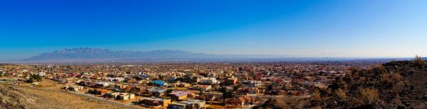 Panoramic View of Sandia Mountains in Albuquerque New Mexico