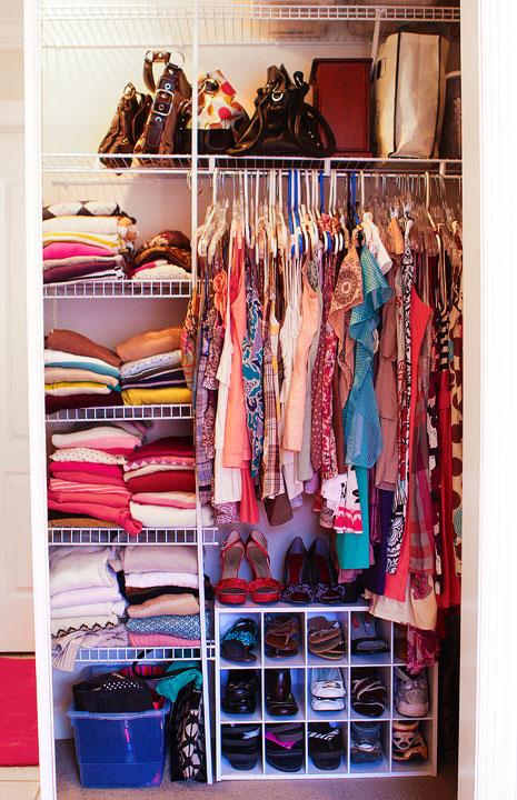 Closet Makeover Organization