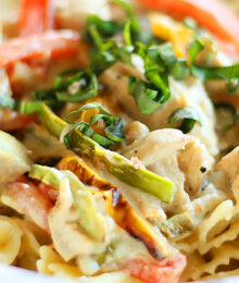 Image of Colorful Chicken Alfredo