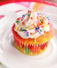Image of a Rainbow Cupcake