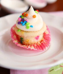 Image of a Mini Funfetti Cupcake