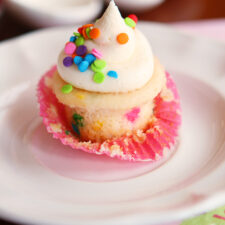 Homemade Frosting For Mini Funfetti Cupcakes