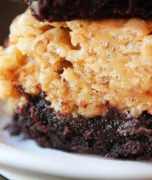 Image of Peanut Butter Rice Krispie Brownies