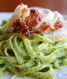 Image of Pasta with Pesto Cream Sauce