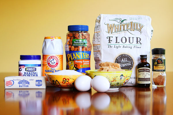 Ingredients for Easy Peanut Butter Cookies Recipe