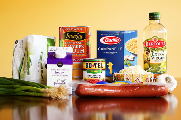 Ingredients for Spicy Sausage Pasta — Best Pinterest Recipes!