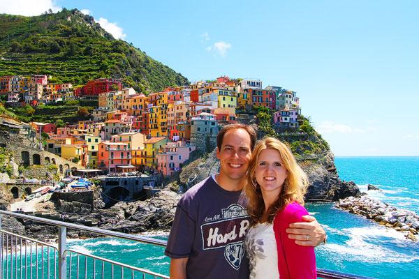 Manarola and Riomaggiore, Cinque Terre, Italy