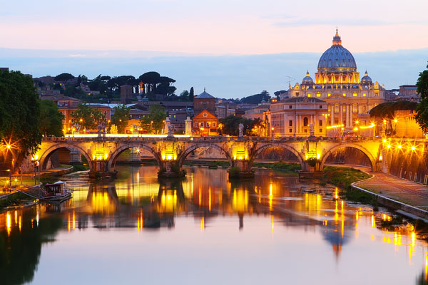 Rome at Night, Italy