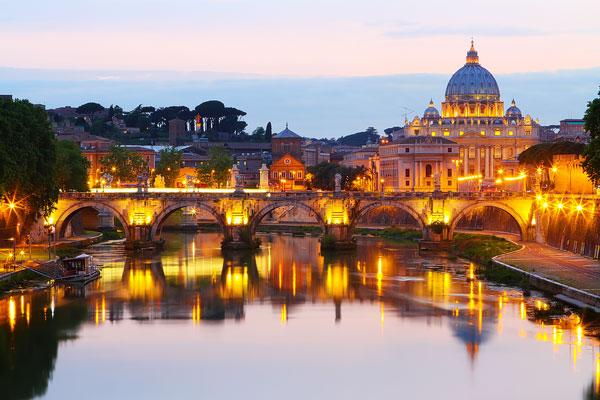 Rome at Night, Italy