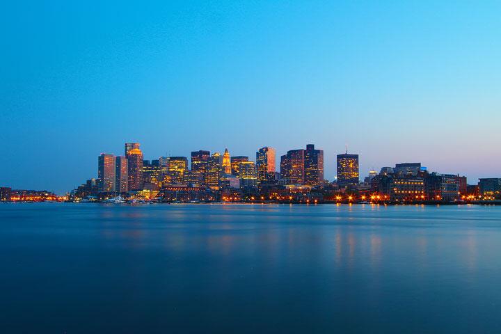 Best View of Boston Skyline at Night