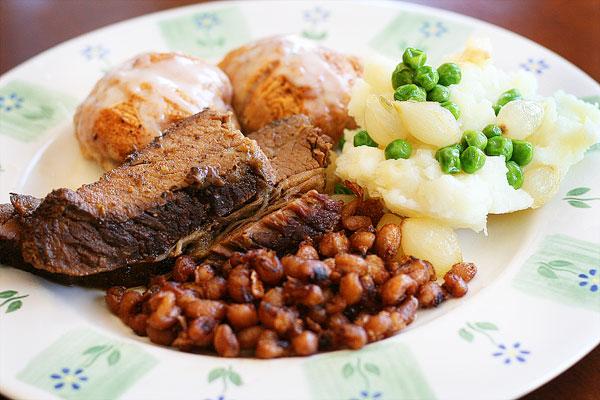 Image of an Easter Brisket Dinner Plate