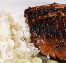 Image of a Pan Seared Salmon Steakette