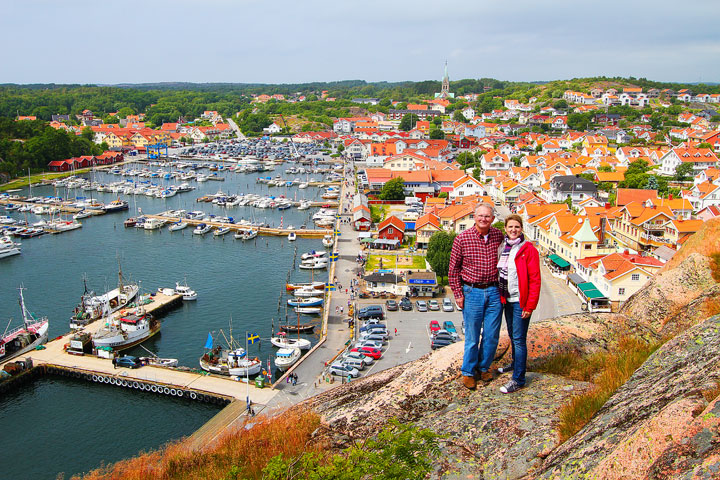 Grebbestad, a colorful fishing Village along the west coast of Sweden