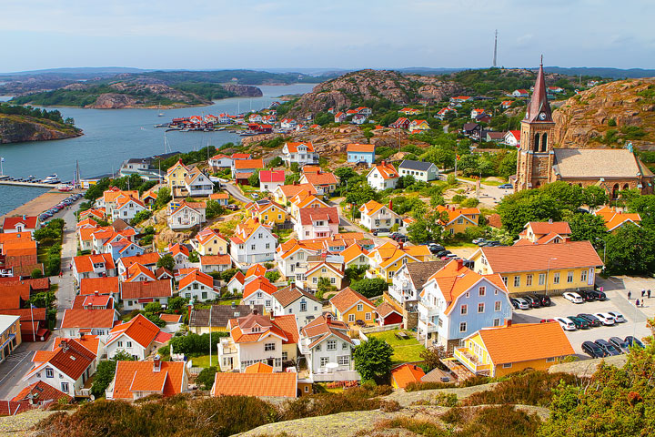 Fjallbacka, a colorful fishing Village along the west coast of Sweden