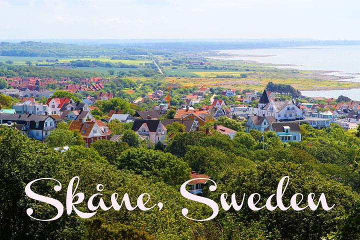 Beautiful countryside region of Skåne, Sweden